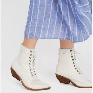 Free People Jeffrey Campbell Lace Up White Boots